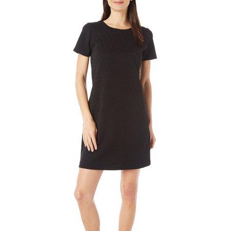 Gilli Womens Puff Geo Printed Shift Dress