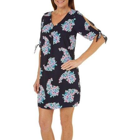 Gilli Womens Floral Print Shift Dress
