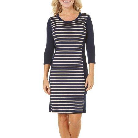 Gilli Womens Striped Panel Dress