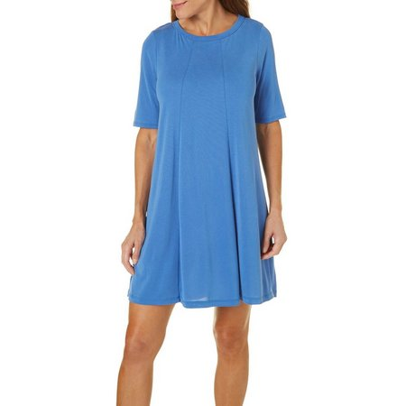 Gilli Womens Draped Open Back Shift Dress