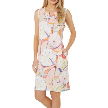 Ellen Negley Womens Shell Shocked Sleeveless Dress