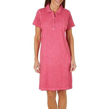 Caribbean Joe Womens Mineral Wash Knit Dress