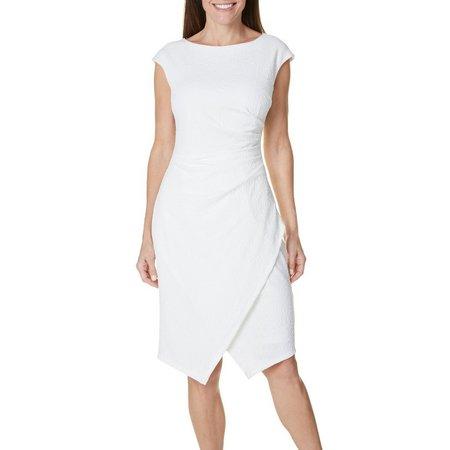 New! London Times Women Asymmetrical Wrap Dress