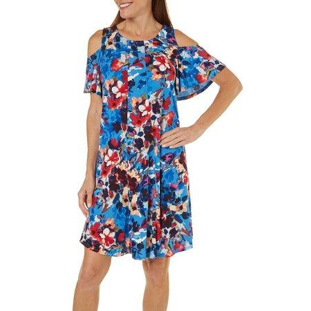 London Times Women Floral Print A-Line Dress