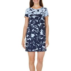 New! London Times Womens Floral Printed Shift Dress