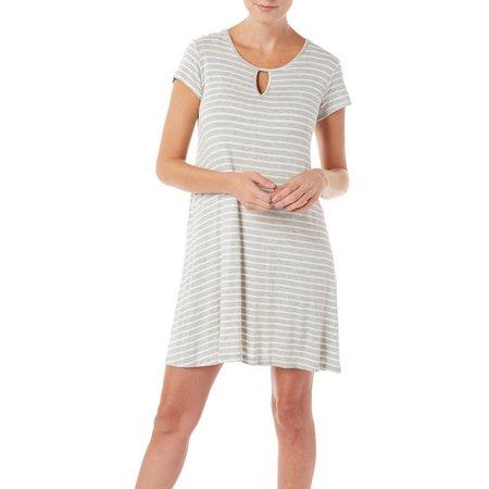 Espresso Womens Striped T-Shirt Dress