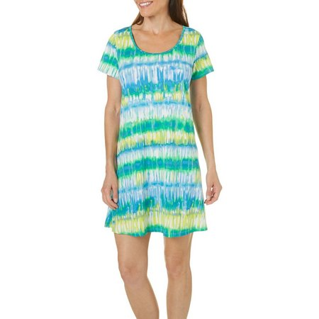 Espresso Womens Tie Dye T-Shirt Dress