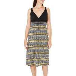 New! Studio West Womens Diamond Print Sundress