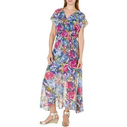 Rabbit Rabbit Womens Floral Printed Maxi Dress