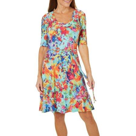 Lennie Womens Katie Garden Print Dress