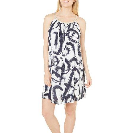 Lennie Womens Sketch Printed A-Line Dress