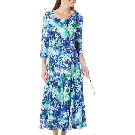 Lennie Womens Sylvia Belt & Paisley Dress