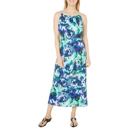 Lennie Womens Whimsical Swirl Print Maxi Dress