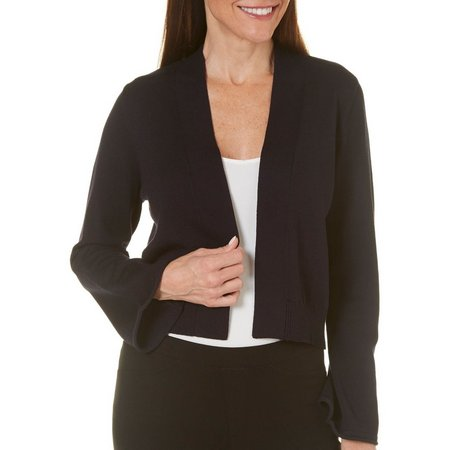 99 Jane Street Womens Bell Sleeve Shrug Cardigan