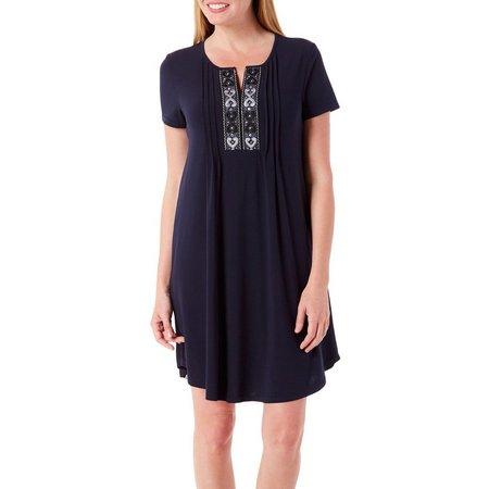 Isela Womens Embellished Shift Dress
