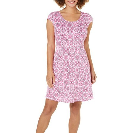 French Atmosphere Womens Crochet Medallion Dress