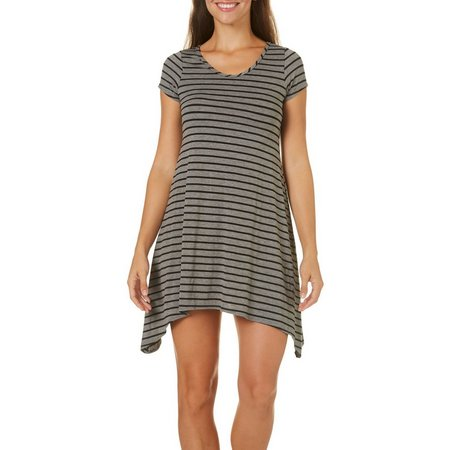 French Atmosphere Womens Stripe T-Shirt Dress