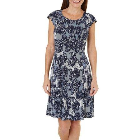 New! Gabby Skye Womens Floral Print Shift Dress