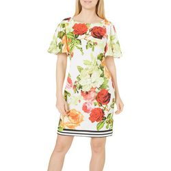 New! Julian Taylor Womens Floral Print Sheath Dress