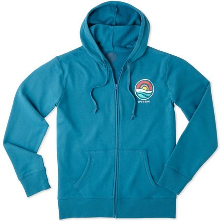 Life Is Good Womens Circle Ocean Hoodie Zip