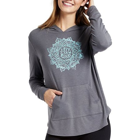 Life Is Good Womens Supreme Hooded Pullover Top