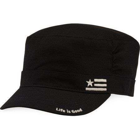 Life Is Good Womens Flag Pleated Cadet Hat