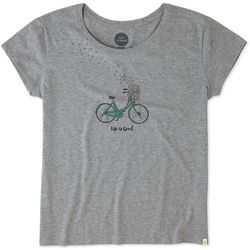 Life Is Good Womens Bike Heart Brezzy T-Shirt