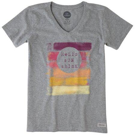 Life Is Good Womens Hello Sunshine Crusher T-Shirt