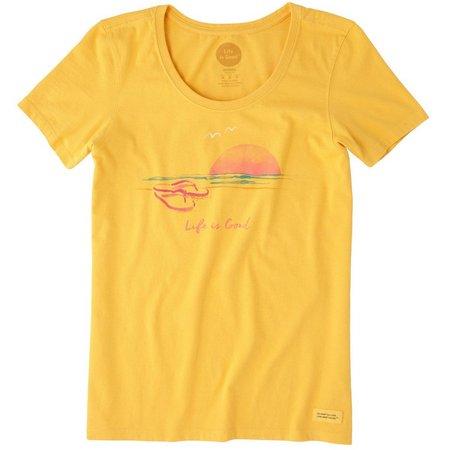 Life Is Good Womens Sandal Sunset Crusher T-Shirt