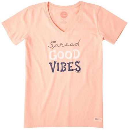 Life Is Good Womens Good Vibes Crusher V-Neck