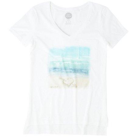 Life Is Good Womens Heart Pocket Vibe T-Shirt