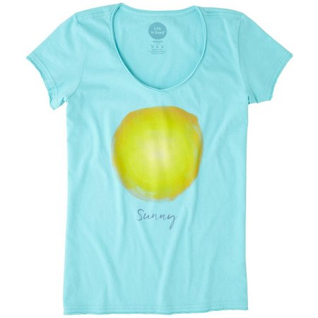 Life Is Good Womens Sunny Sun Smooth T-Shirt