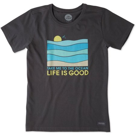 Life Is Good Womens Ocean Crusher T-Shirt