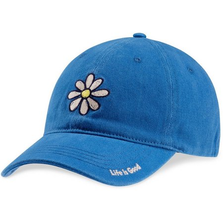 Life Is Good Womens Daisy Sueded Stretch Baseball