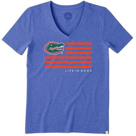 Florida Gators Womens Flag Print Mascot T-Shirt