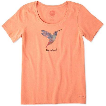 Life Is Good Womens Hummingbird Crusher T-shirt