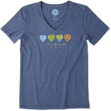 Life Is Good Womens 365 Hearts Cool T-Shirt