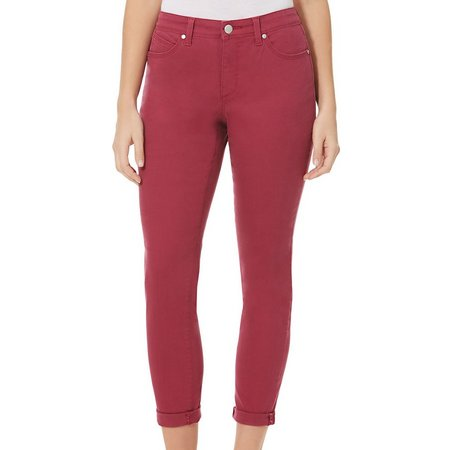 BANDOLINO Womens Listbeth Solid Ankle Pants