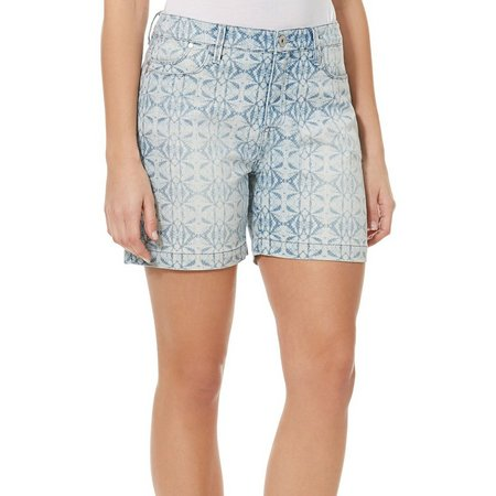 BANDOLINO Womens Mandie Kaleidoscope Denim Shorts