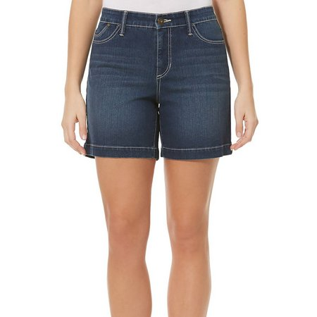 BANDOLINO Womens Mandie Whiskered Denim Shorts