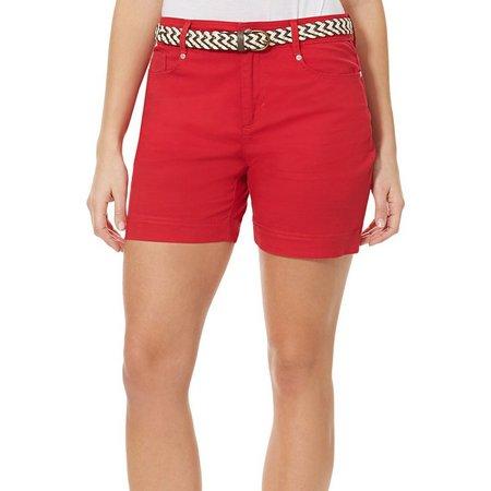 BANDOLINO Womens Mandie Solid Denim Shorts