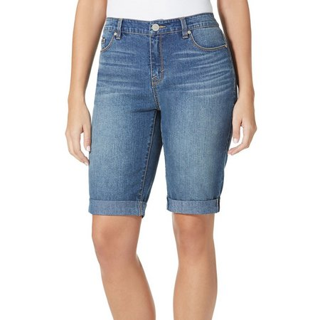 BANDOLINO Womens Riley Denim Bermuda Shorts