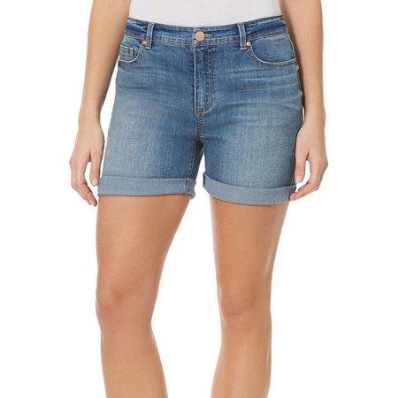 BANDOLINO Womens Karyn Slim Boyfriend Shorts