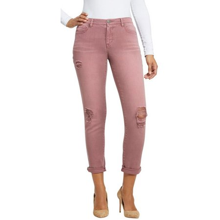 BANDOLINO Womens Karyn Distressed Denim Jeans