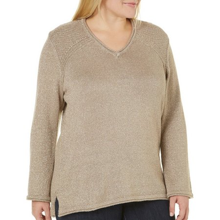 Democracy Plus Lurex Gold Sweater