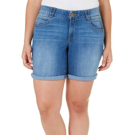 New! Democracy Plus Ab-solution Solid Denim Shorts