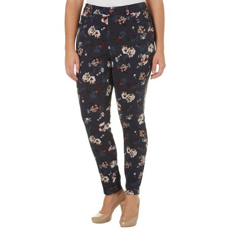 Vintage America Plus Boho Floral Skinny Jeans