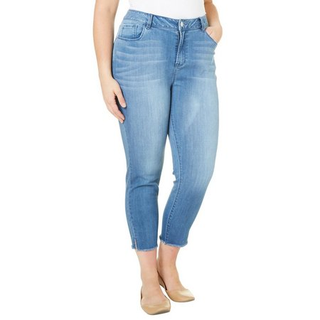 Kensie Jeans Plus Side Vent Crop Jeans