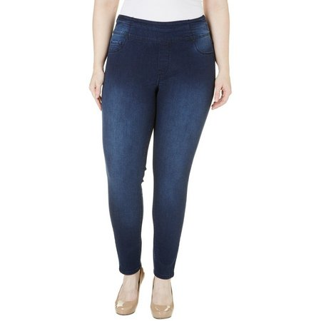 Kensie Jeans Plus Pull-On Denim Pants