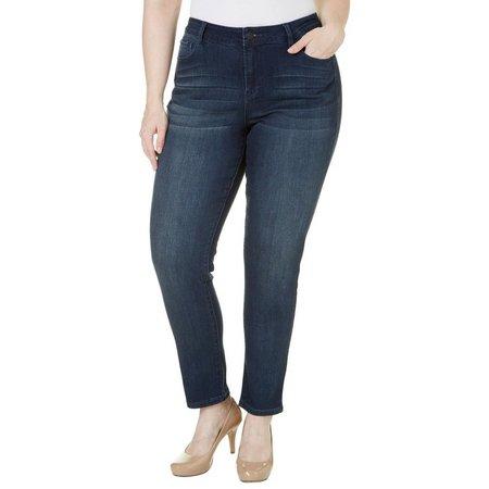 Kensie Jeans Plus Solid Skinny Pants
